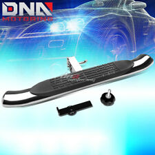 "37"" x 4""OVAL 2""RECEIVER CHROME TRAILER TOWING TAILGATE/HITCH STEP BAR/PEDAL+PIN"