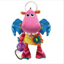 dinosaur fly fire dragon rattle baby carriage bed hanging soothing plush toy
