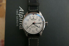 Alpina Startimer Pilot Automatic Watch. AL-525 44mm. White, Date AL-525S4S6. NEW