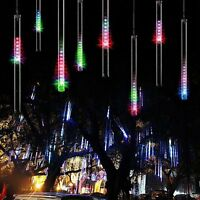Lichterkette Meteor Schauer Sternschnuppen Regentropfen Eiszapfen LED Garte Deko