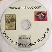 Military Watch Repair Information - World War II WW2 on CD hundreds of pages