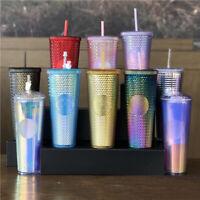 NEW Starbucks China 2021 24oz Valentine's Rainbow Diamond Studded Tumbler CUP