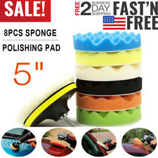 8 Pack Buffing Pads Waxing Polishing Buffer Drill Sponge Kit For Car Polish Tool