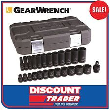 "GearWrench 25Pc 3/8"" Drive 6 Point SAE Standard/Deep Impact Socket Set - 84919N"