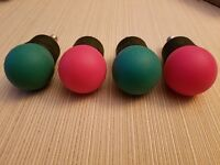 Four (4) LED C-7...2 Red & 2 Green....C-7 Base Bulbs  Tested & Working