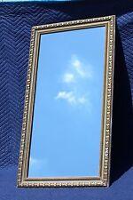 "LARGE Recessed Vintage 39"" Wood Frame Mirrored Medicine Cabinet w/ Glass Shelves"