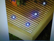 10 30mm LED Lights Plinth/decking/deck Blue Ip66