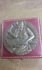 MEDAILLE bronze fédération nat. de la quincaillerie st ELOI 1972 sign COCHET M47