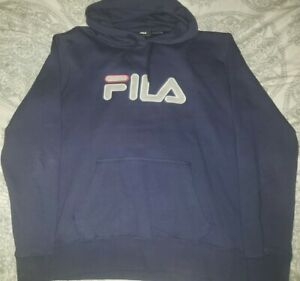 Fila Pullover Hoodie Men's Size XL Navy Blue Preowned in great condition