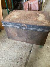 Old  Metal Trunk Travelling Industrial   19/11/G