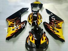 For CBR1000RR 04-05 ABS Injection Mold Bodywork Fairing Kit Black Yellow Flame