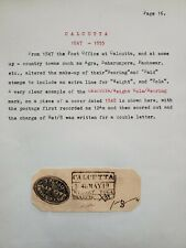 India pre-stamp 1848 piece on a well written page. Govt. Office Agent