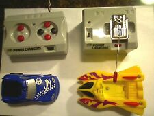 Tyco R/C Radio Control Power Changers Car and Boat CAR MISSING RUBBER WHEEL READ