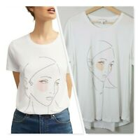 [ WITCHERY ] Womens Printed Face Tee T-shirt / Top | Size XL or AU 16 / US 12