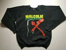 Vintage Malcolm X HUMAN RACE Black History Panther Crewneck Sweatshirt - Size xl