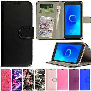 For Alcatel 1B 1S 1C 3L 3X 2021 Case Leather Wallet Magnetic Cover Flip Luxury