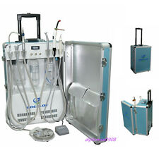 Dental Portable Delivery Unit with Air Compressor 2 Holes + Curing Light Scaler