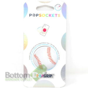 PopSockets 800675 PopGrip Phone Grip & Stand with Swappable Top Baseball