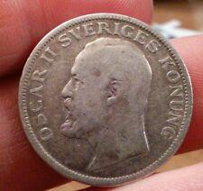 Sweden Silver 1 Krona, 1907 King Oscar II toned