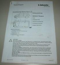 Einbauanleitung Standheizung Renault Megane Webasto Thermo Top C Diesel ab 2003!
