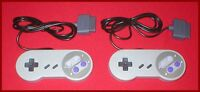 2 Controllers for the US Super Nintendo SNES & Japanese Super Famicom NEW