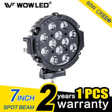 WOW- 7 inch 60W CREE LED Driving Work Light Spot Offroad Lamp 4WD Truck Boat