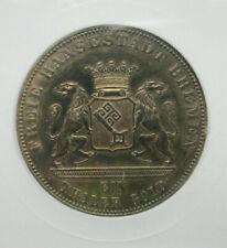 1863 German Bremen Silver Thaler ANACS UNC Details Old Small Holder Taler C21