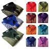 Mens Traditional Thai Silk Shirt Short Sleeve Casual Formal / S M L XL 2XL 3XL