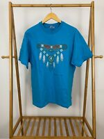 VTG 90s Hanes Native Navajo Necklace Jewelry Graphic Single Stitch T-Shirt XL