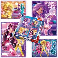 Trefl 4 In 1 35 + 48 + 54 + 70 Piece Girls Star Darling Friends Jigsaw Puzzle