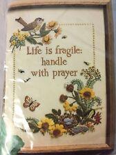 The Creative Circle Life Is Fragile Crewel Embroidery Kit Persian Wool Yarn
