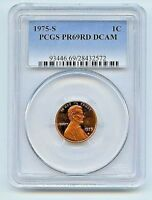 1975-S 1C DC (Proof) Lincoln Cent--PCGS Pr69 Deep Cameo--Beautiful,Clear,Red!!