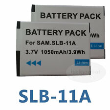 Two SLB-11A Battery for Samsung CL65 HZ25W TL240 HZ30W WB5500 EX1  EDR198GRN