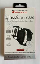Zagg InvisibleShield GlassFusion 360 Black 44mm Apple Watch Series 4 5 6 Screen