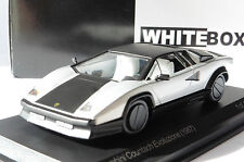 LAMBORGHINI COUNTACH EVOLUZIONE BLACK SILVER 1987 WHITEBOX WB512 1/43 SILBER