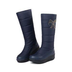 Women Snow Boots Elderly Winter Cotton Shoes Casual Round Toe Warm EUR42