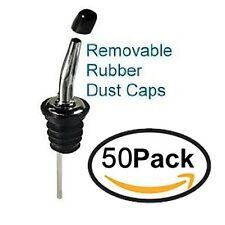 50 pack BLACK DUST CAP CAPS Liquor Bottle Pour Spout POURER COVER 285-50 Series