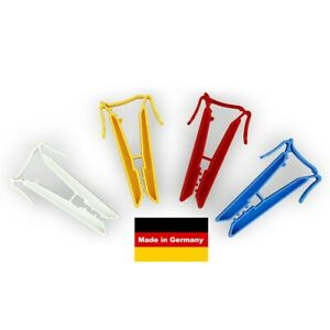 40 Stk. Sockenclips, Sockenklammern,Sockenklammer, Sockensortierer (10 je Farbe)