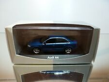MINICHAMPS AUDI A4 3.2 QUATTRO - BLUE METALLIC 1:43 - EXCELLENT IN DEALER BOX