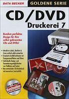 CD/DVD Druckerei 7 von Data Becker | Software | Zustand gut