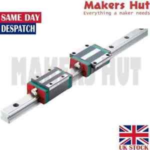 HIWIN HGH Linear Guide Rail 2x Rail Blocks - CNC - HGH 15 - 20 - 25 -30