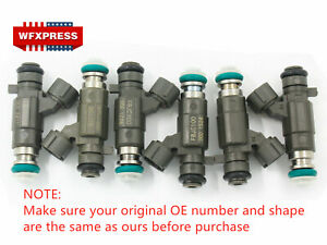 6 Pcs Fuel Injectors For Nissan Infiniti 350Z FX35 2.0 2.2 2.5 3.0 3.5 FBJC100
