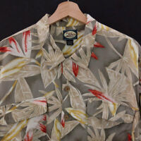 Tommy Bahama Mens Button Shirt Size L Short Sleeve