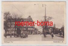 75752 Ak Karlsruhe i.B. Ettlinger Tor 1932