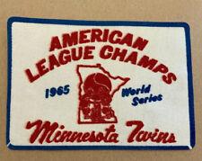 Minnesota Twins 1965 World Series Felt Patch American League Champs RARE