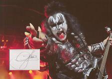 GENE SIMMONS Signed 12x8 Photo Display KISS Crazy Nights COA