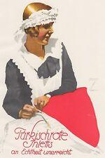 Ludwig Hohlwein - Farbige Werbegraphik 20er Jahre - Motiv Dienstmädchen Wäsche