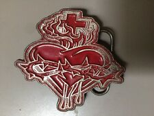 Monster Belt Buckle Sacred Heart Rockabilly Style