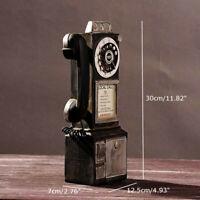 30cm Antique Style Rotatif Mural Téléphone Modèle Stand Téléphone Figurine
