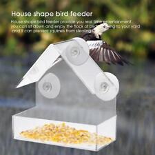 Transparent Acryl Adsorption Haus Typ Vogelfutterstation Vogelfutterspender Neu
